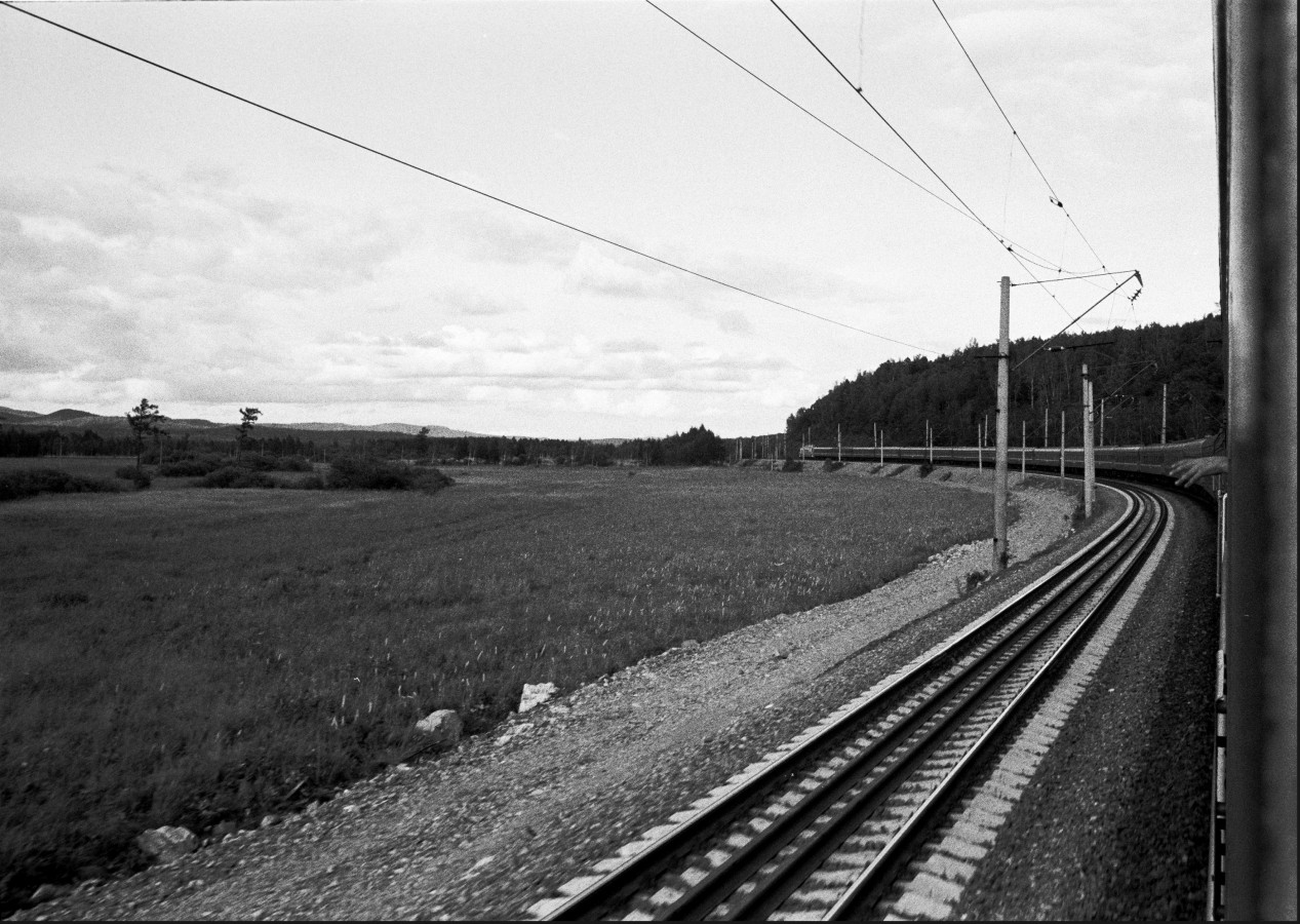 Eastbound train to Novosibirsk