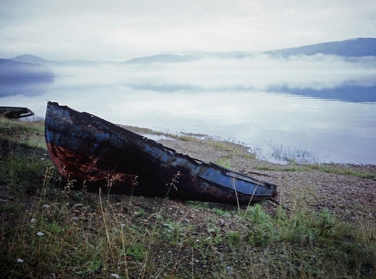 Arrival at dusk, Bolshoije Reshka, Angara River, Irkutsk