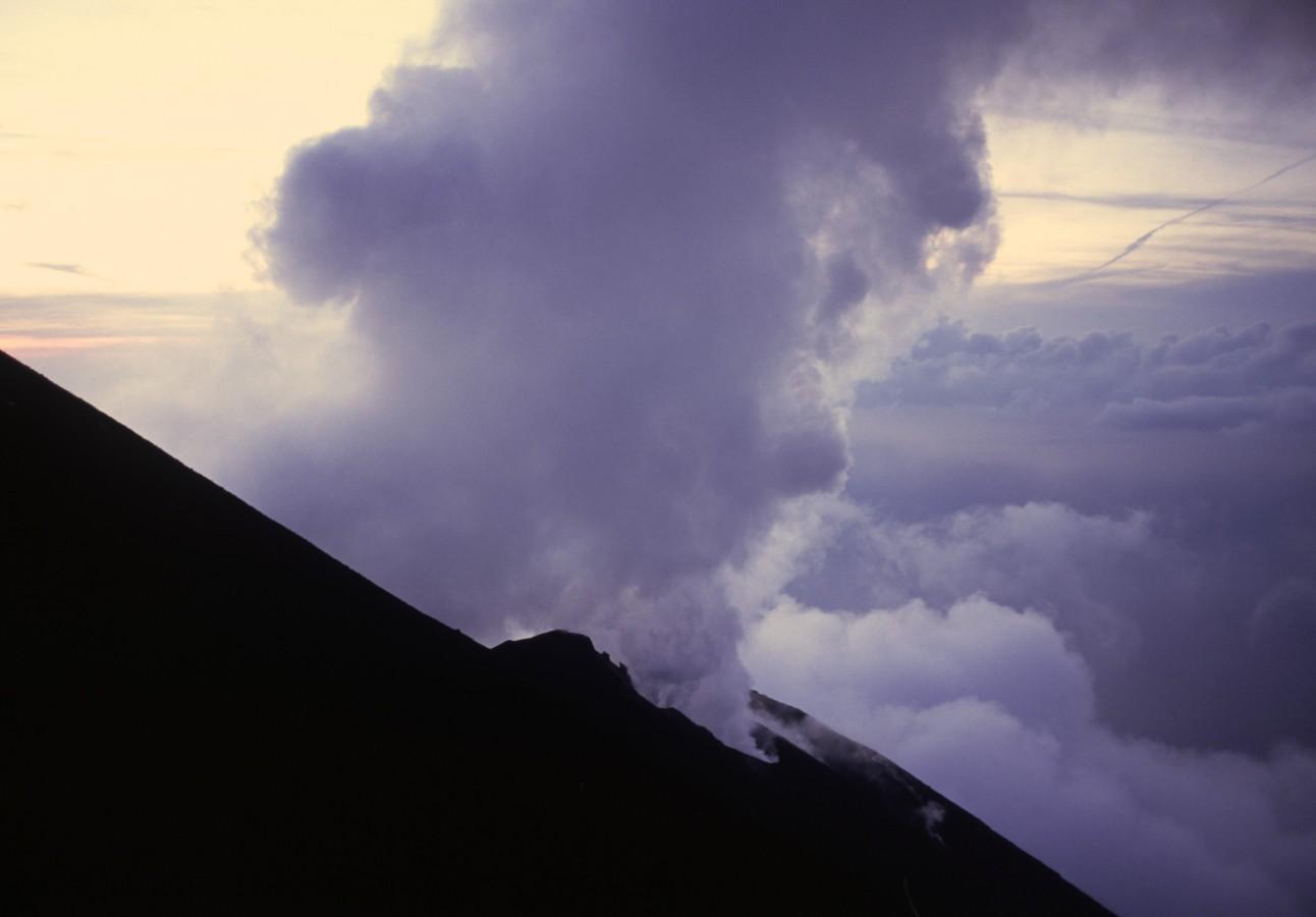 The Stromboli vulcano, burst