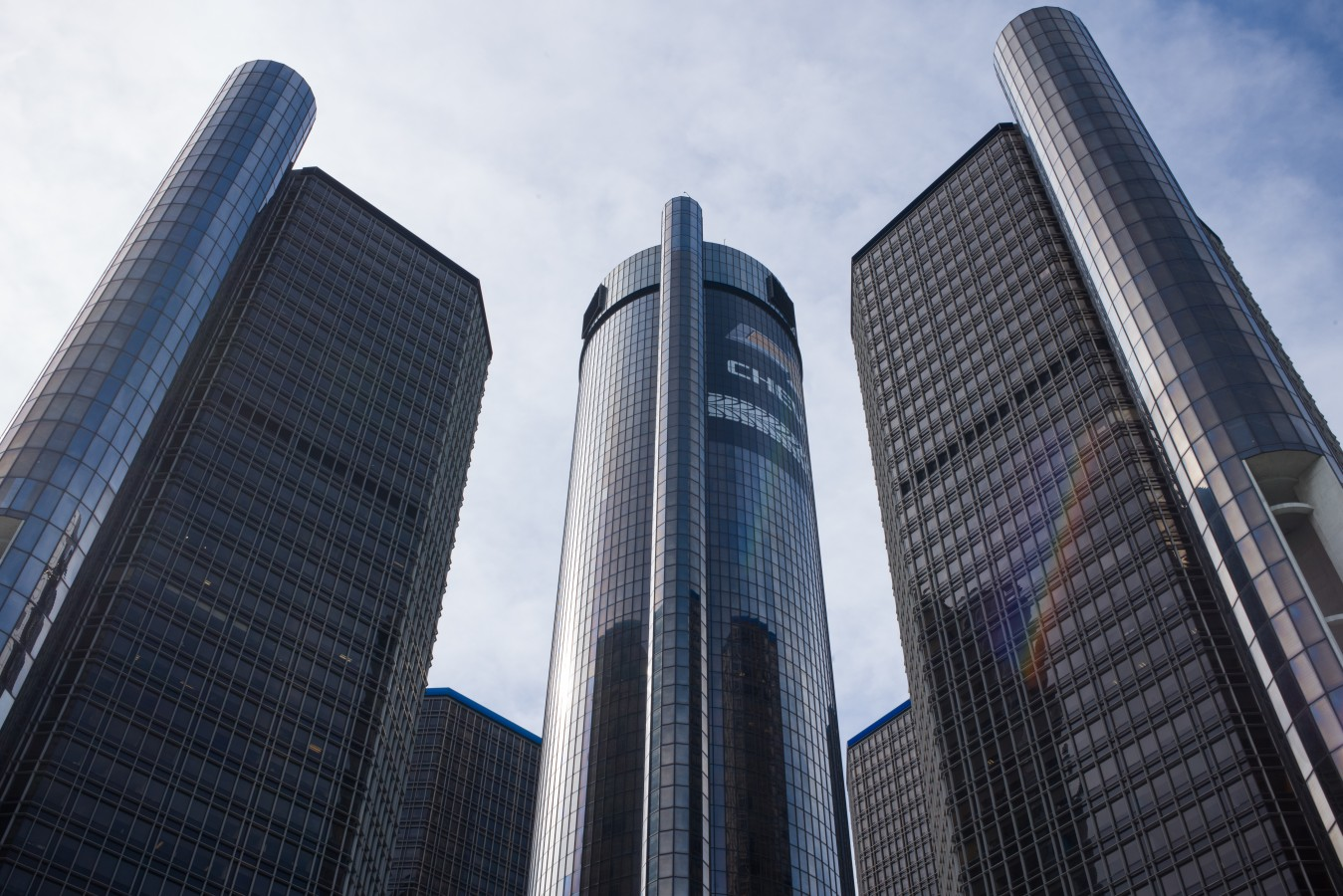 The main landmark downtown - the automobile industry headquarters