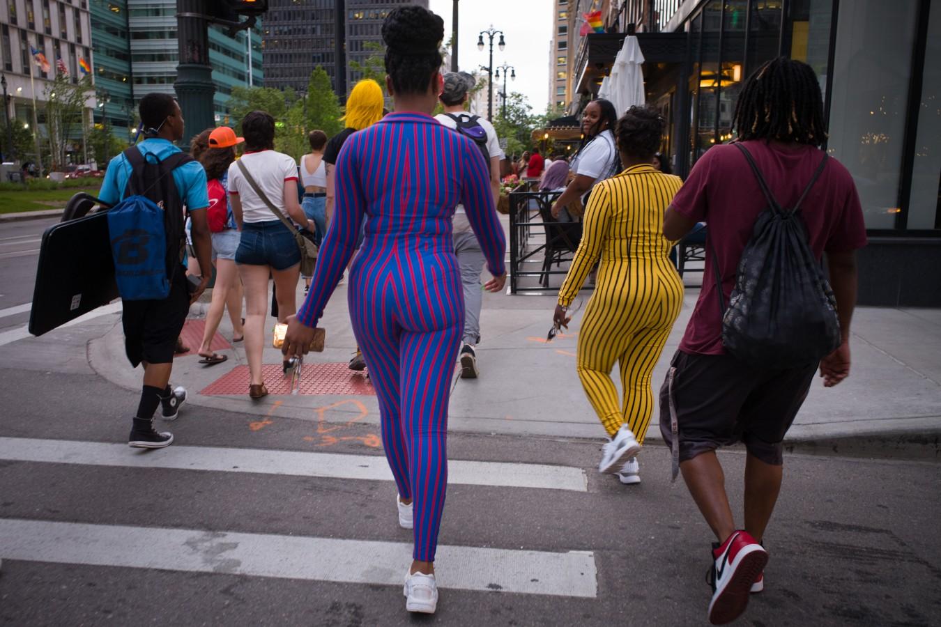 Rainbow Festival visitors, downtown Detroit